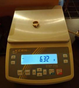 Balance homologuée pour le poids de l'or